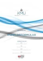 Anmeldeformular: KMU Akademie - Middlesex University - Fernstudium | Bachelor, Master, Doktorat